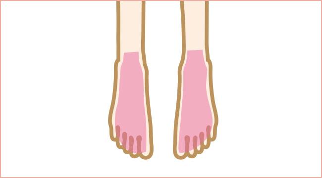 足の甲と指脱毛について